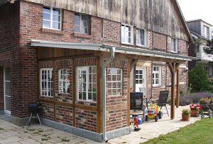 Fachwerk terrassenüberdachung