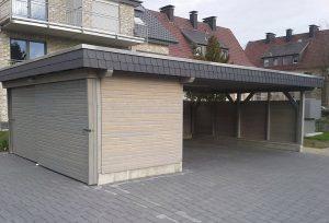 Carport mit Bikeport Langenberg
