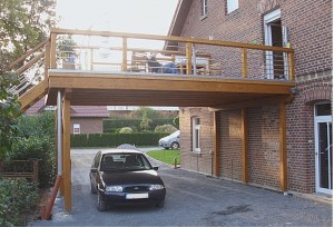 Carport mit Balkon Lippetal Herzfeld