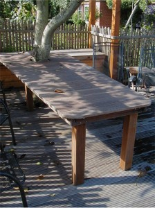 Tisch aus Riffelbretter Wadersloh