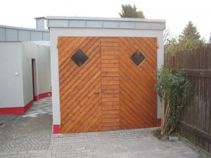 Garagentor Holzverbretterung Lippstadt